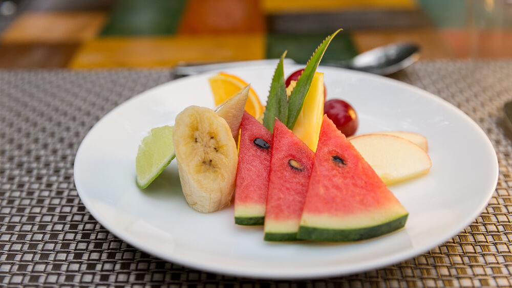 Fruit Platter at restaurant